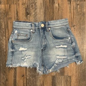 Blank NYC destroyed jean shorts